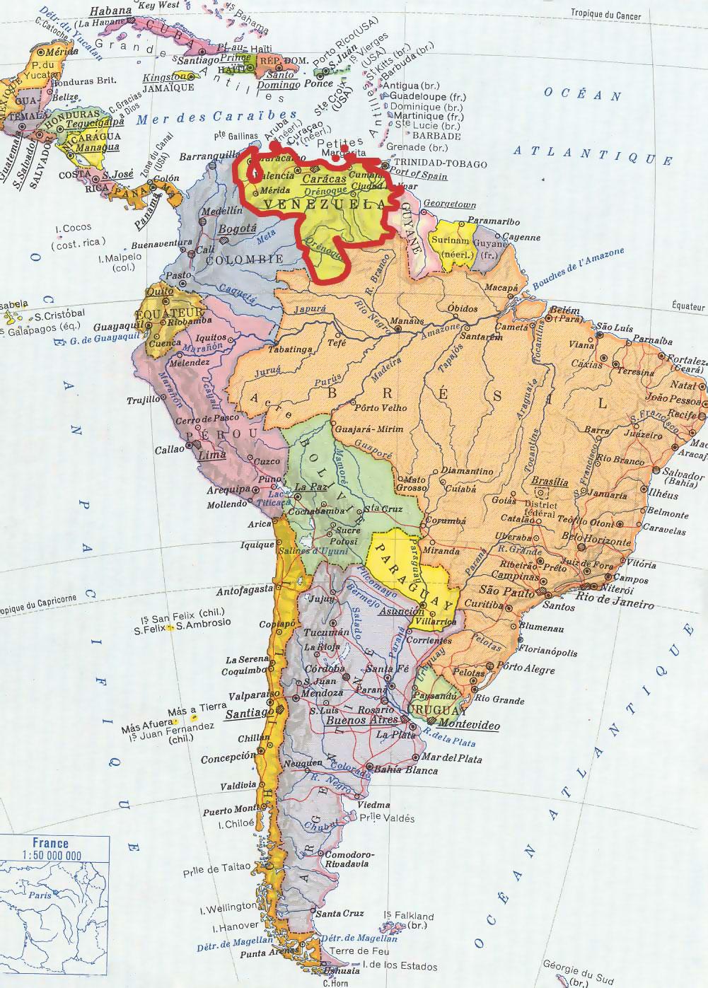 Le Venezuela : sa géographie